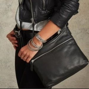 Margot Mary Black Leather Shoulder Bag